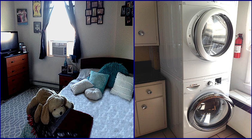 140 Noble Apt-C bedroom - washer & dryer