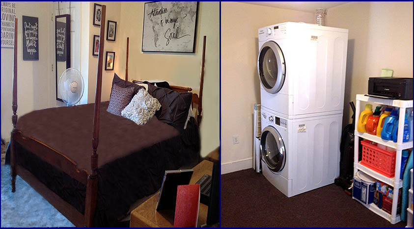 418 W Main Apt-B bedroom - washer & dryer